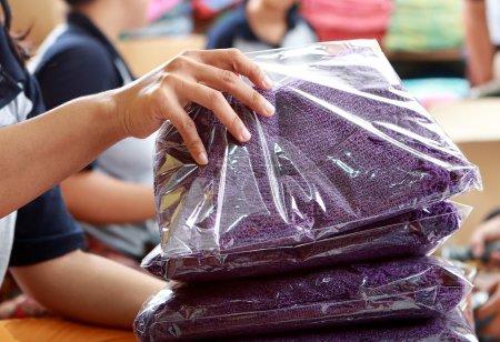 Tri qualité de textile